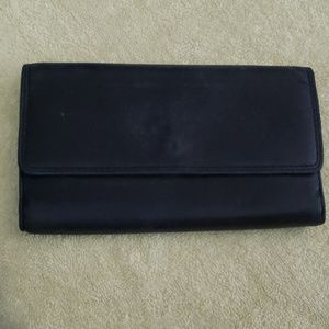 Handbags - Leather wallet with checkbook holder